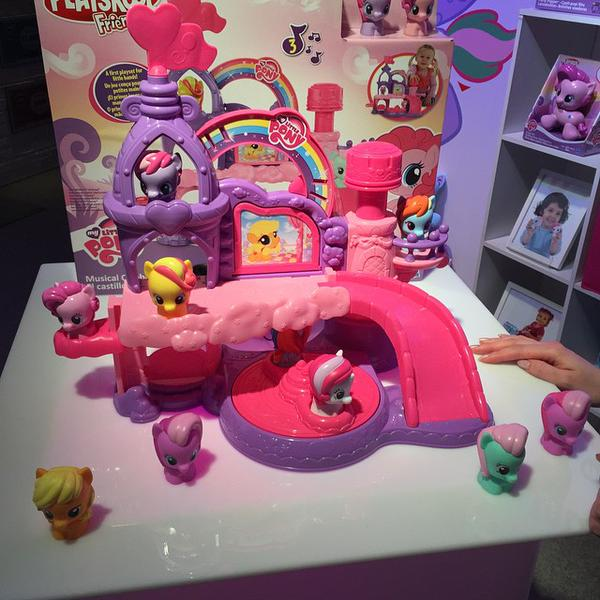 My Little Pony Playskool Friends Musical Celebration Castle at NY Toy Fair 2015