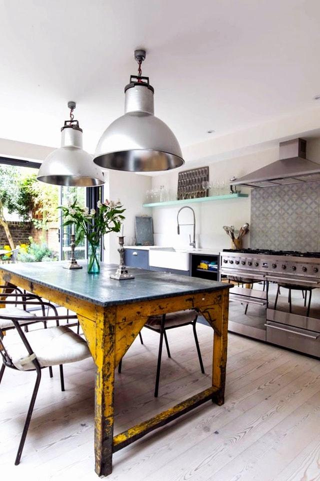 25 ideas para una cocina de estilo industrial cocinas for Mesa de cocina industrial