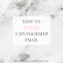 #BloggerBoss: How to Write a Sponsorship Email