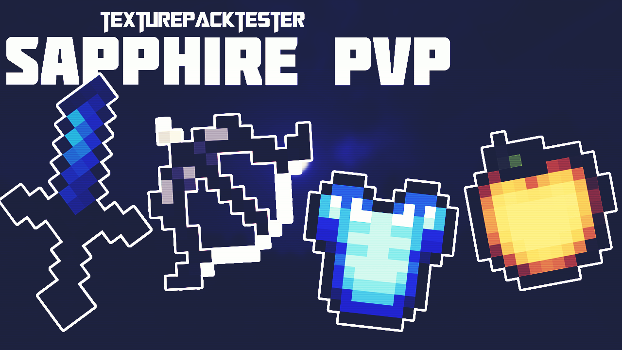 SAPPHIRE BLUE 16x FPS PVP TEXTURE PACK | IOS / ANDROID