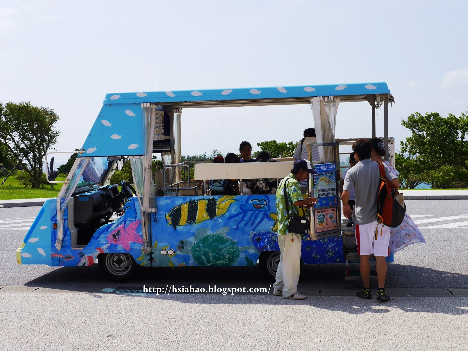 沖繩-海洋博公園-循環巴士-美麗海水族館-海洋博公園交通-自由行-旅遊-旅行-okinawa-ocean-expo-park-Churaumi