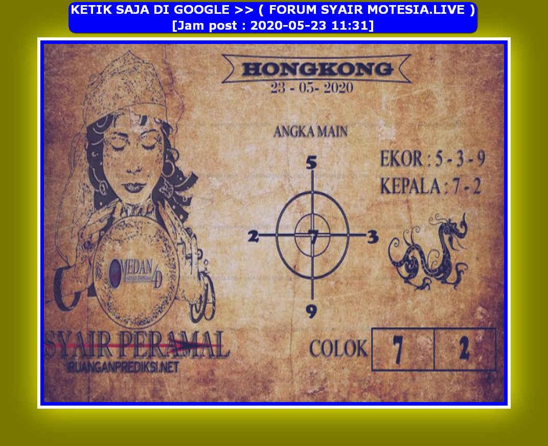 Kode syair Hongkong Sabtu 23 Mei 2020 192