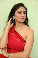 Actress Zahida Sam Latest Stills in Red Long Dress at Badragiri Movie Opening .COM 0105.JPG