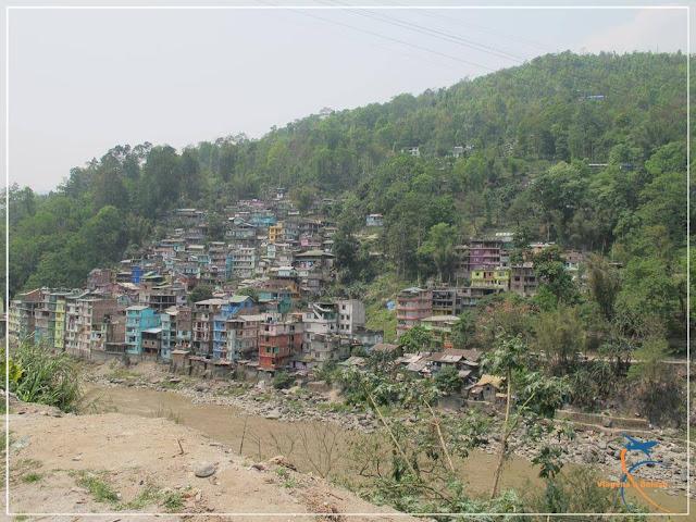 Rio Teesta ou Rio Tista, em Sikkim, na Índia
