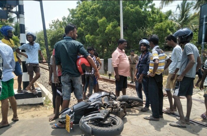 Two youths killed in a train accident in Jaffna