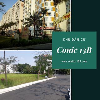 đất mặt tiền vành đai trong khu dân cư Conic 13B
