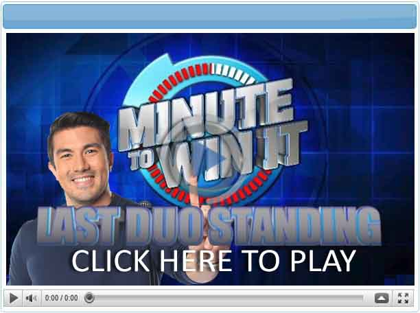 Minute To Win It - Last Duo Standing - Pinoy Show Biz  Your Online Pinoy Showbiz Portal