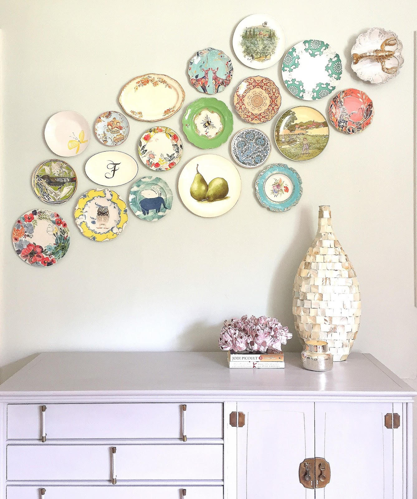 How To Hang A Plate Wall With No Stress Or Measuring