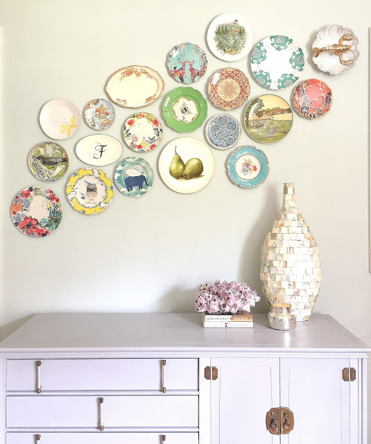 How to Hang a Plate Wall