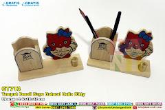 Tempat Pensil Kayu Natural Hello Kitty