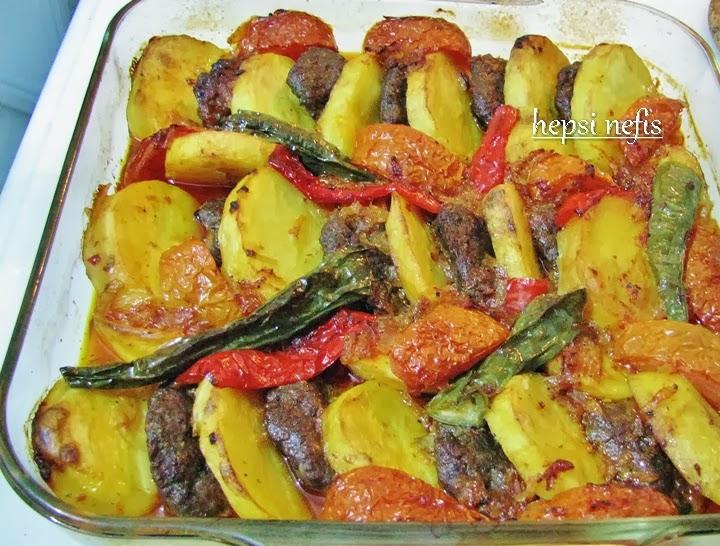 fırında patatesli köfte
