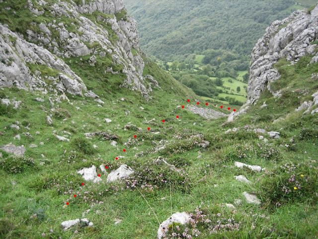 Rutas Montaña Asturias: Canal de bajada a Viapará desde el Monsacro
