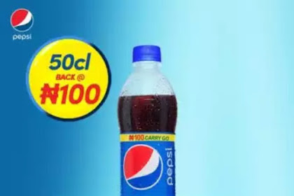 Its Official! The Pepsi 50cl Bottle is Now #100 (Details)