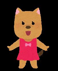 水着の動物のキャラクター(犬の女の子)