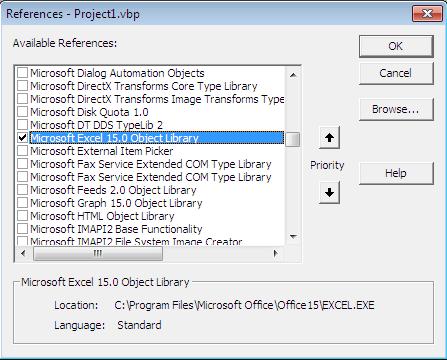 Cara Membuat Laporan Menggunakan Microsoft Excel di VB 6.0, cara membuat Laporan VB 6.0 ke Office Excel