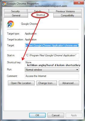 Cara membuat shortcut key pada program / aplikasi