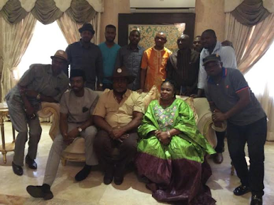 Patience Jonathan Pictured With Some Politicians In Rivers State