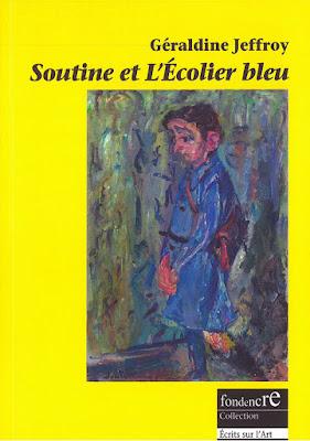 """Couverture du  livre """"Soutine et l'Écolier bleu"""" de Géraldine Jeffroy"""