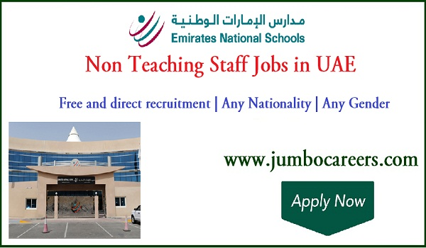 UAE non teaching staff jobs for Indians, Latest office jobs in UAE,