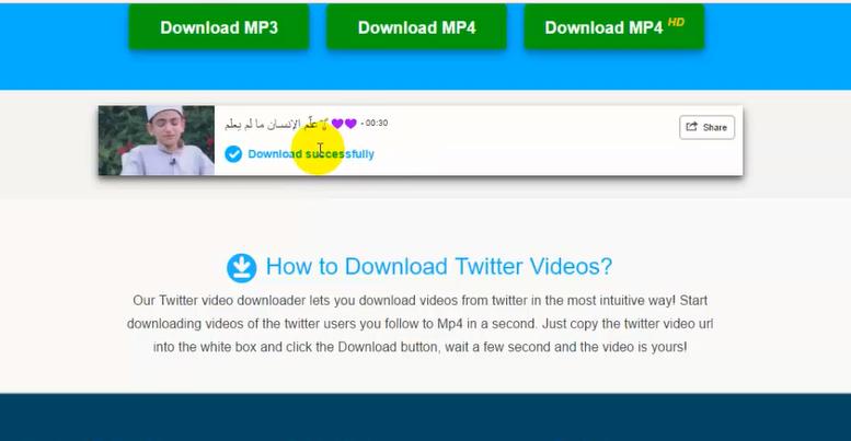 تحميل فيديوات التويتر بدون برامج في ثواني معدودة مدونة التعليم المجاني
