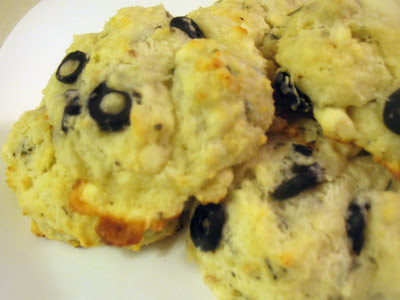 Olive and Feta Scones with Rosemary, Basil and Sun-Dried Tomatoes
