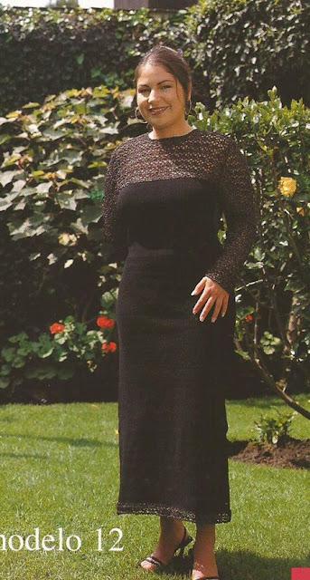 Vestido de gala a Ganchillo