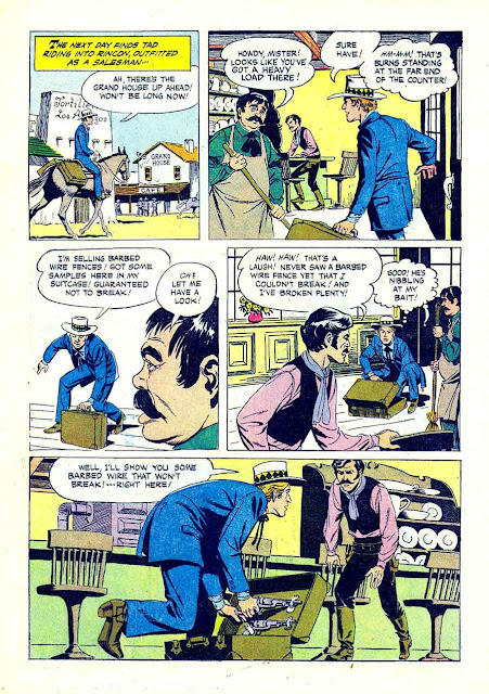 Gene Autry and Champion v1 #118 dell western comic book page art by Russ Manning