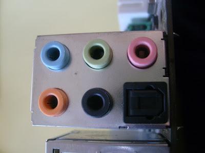 Conectores de audio de un pc