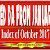 CPI(IW) Index of Oct, 17 released : Expected DA from January 2018 @ 7% for 7th CPC & @ 143% for 6th CPC