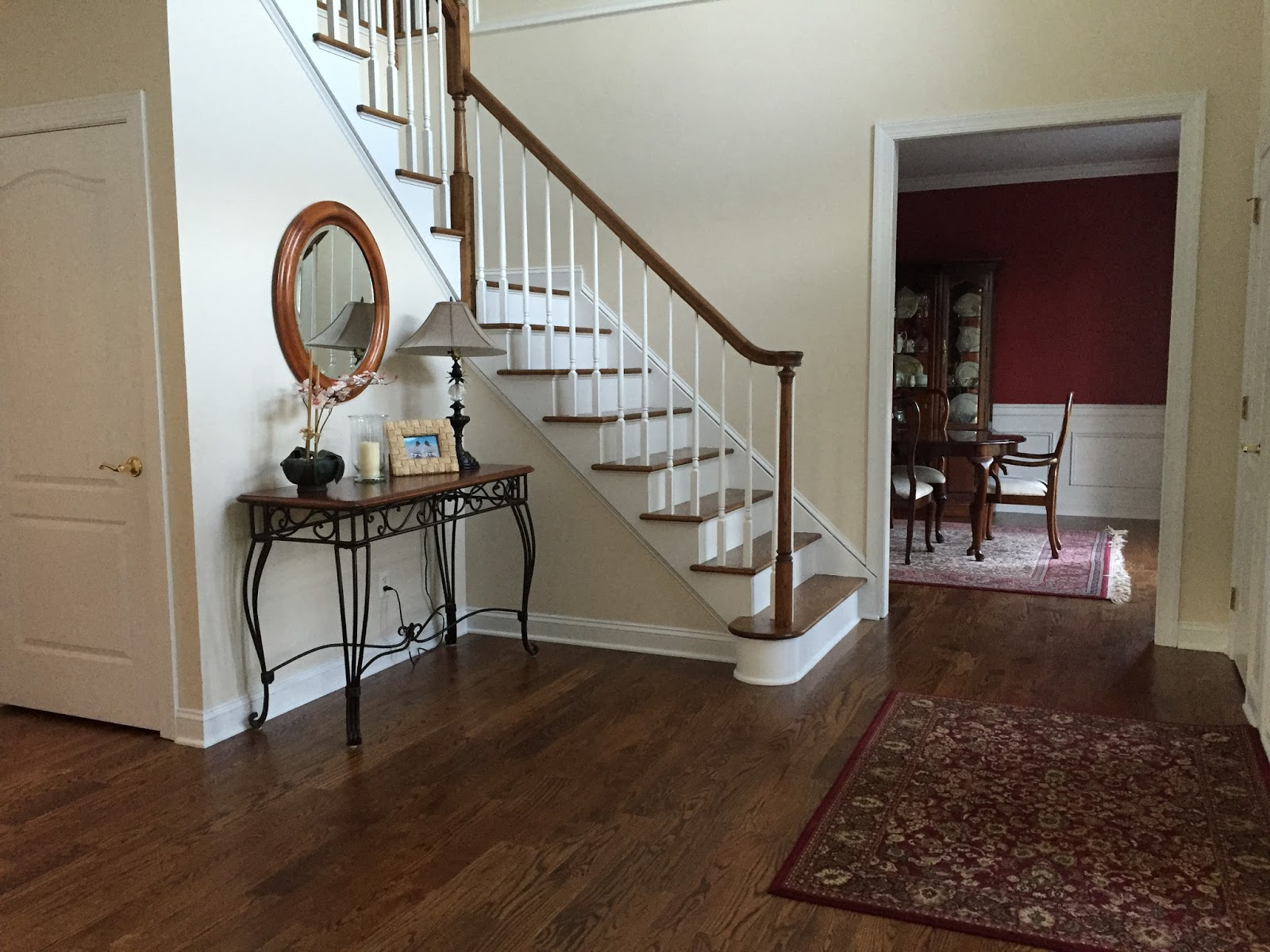 Foyer with new staircase
