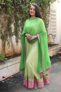 Actress Sonia Agarwal Stills in Green Anarkali Dress at Agalya Tamil Movie Launch  0014.jpg