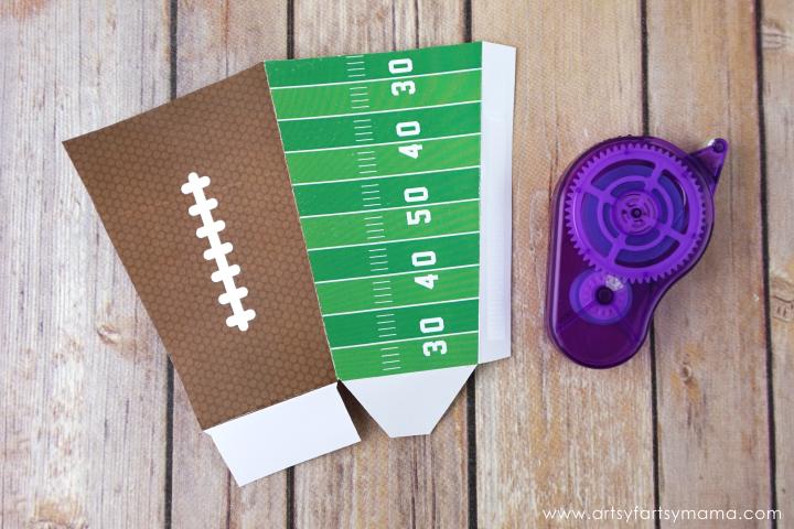 Chocolate Caramel Pretzel Popcorn with Free Printable Football Popcorn Boxes for the Big Game! #AllStarSnackBar