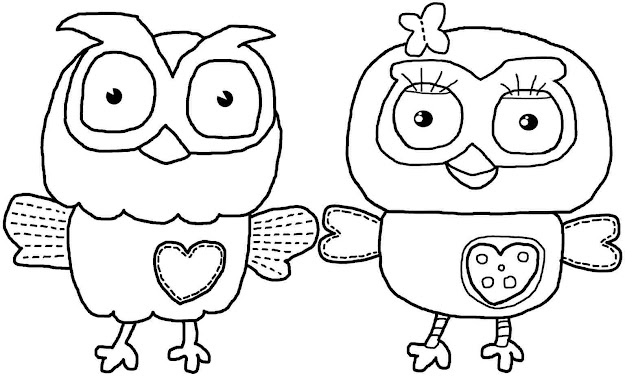 Cute Owl Coloring Pages With Cute Owl Coloring Pages