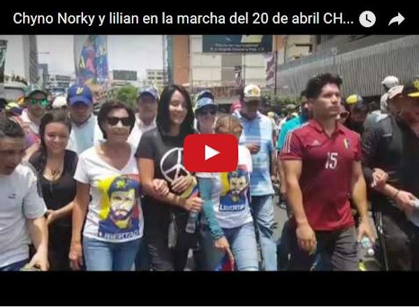 Chyno, Lilian Tintori y Norkys Baptista marcharon juntos en Chacao