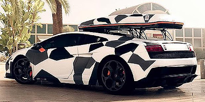 Electric Cars Unusual Lamborghini Gallardo Winter Camo
