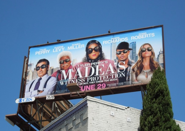 Madea Witness Protection billboard
