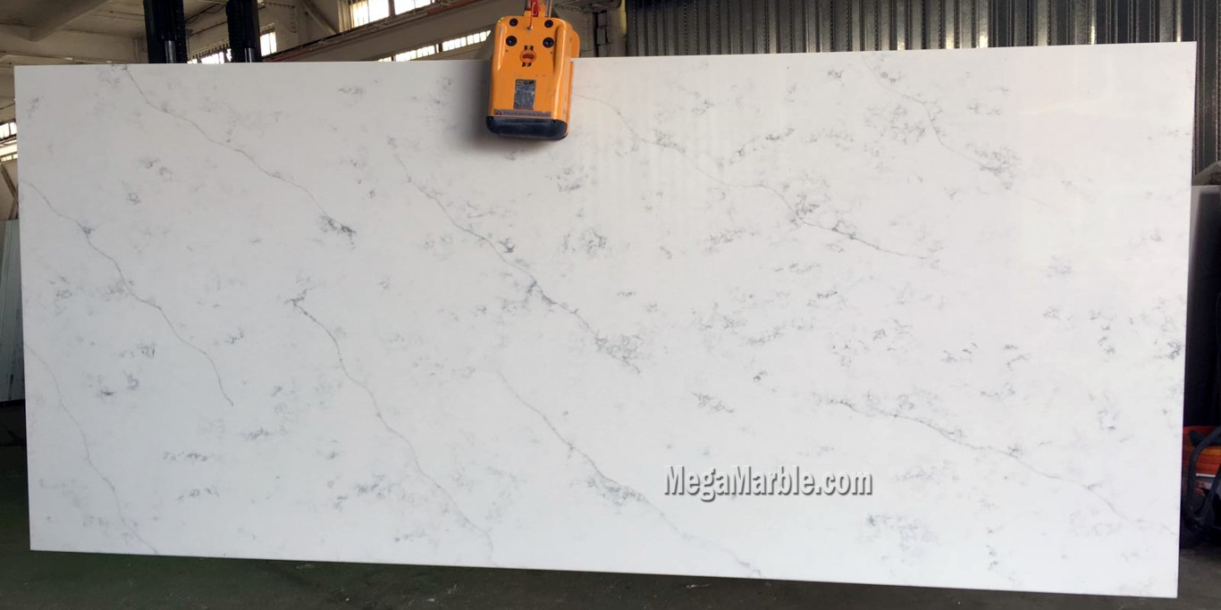 striking and calacatta its white marble countertops classique veining stuns gorgeous with transform look pin your
