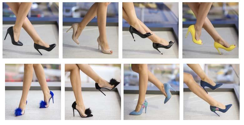 Pantofi cu toc inalt is subtire de ocazi