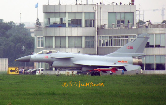 J-10B #1035 prototype powered by WS-10 showed up in 2011