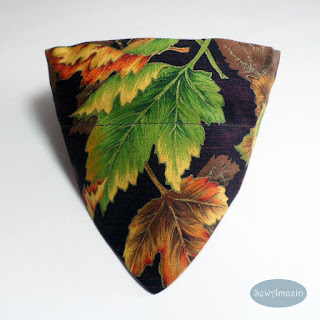 Autumn Leaves Collar Slipcover Dog Bandana, Small