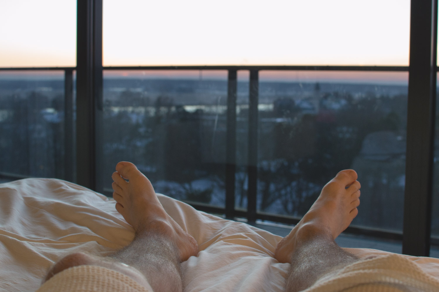 Sleeping in a hotel after a day in SPA in Jurmala
