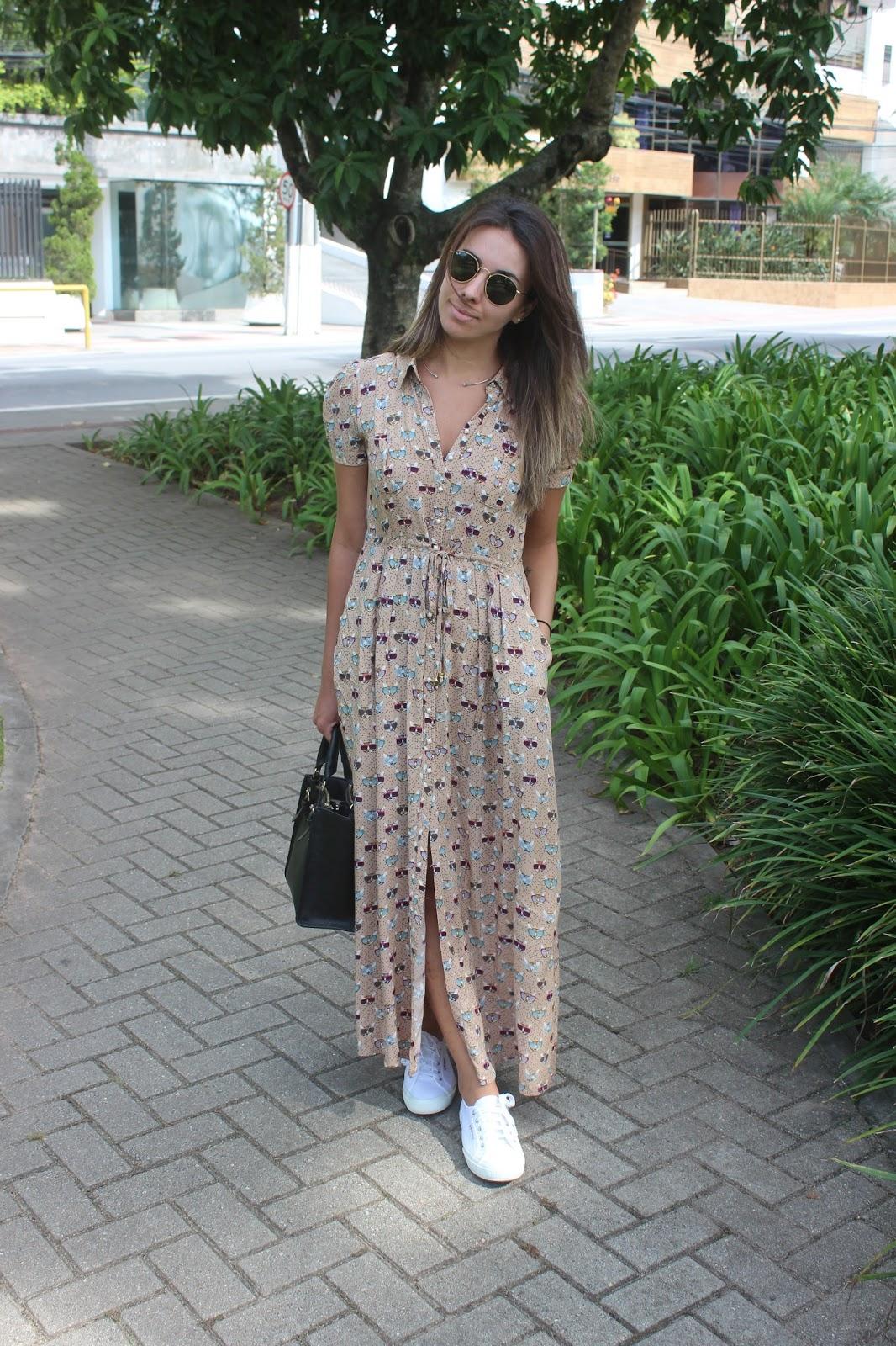 017719754 Blog da Nanda Pezzi: Look do dia: Vestido longo e Superga