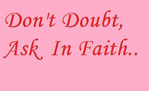 stop doubting