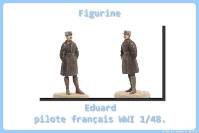 Figurine de pilote français WWI