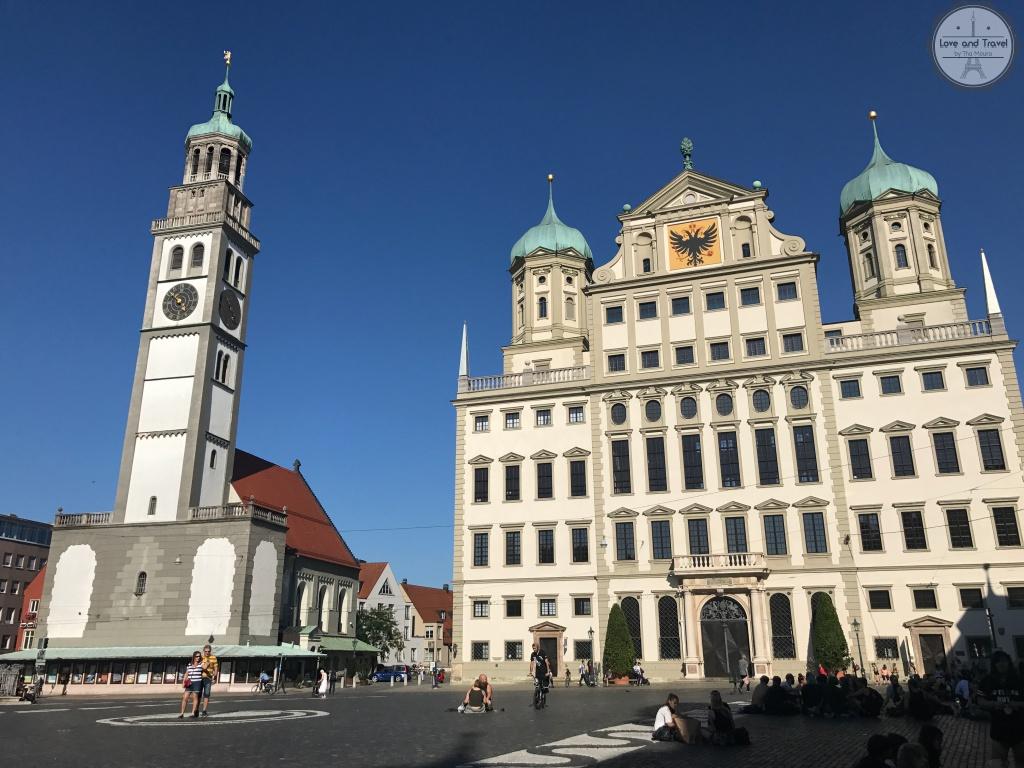 Cidades da Rota Romântica da Alemanha: Augsburg/ Perlachturm e Rathaus