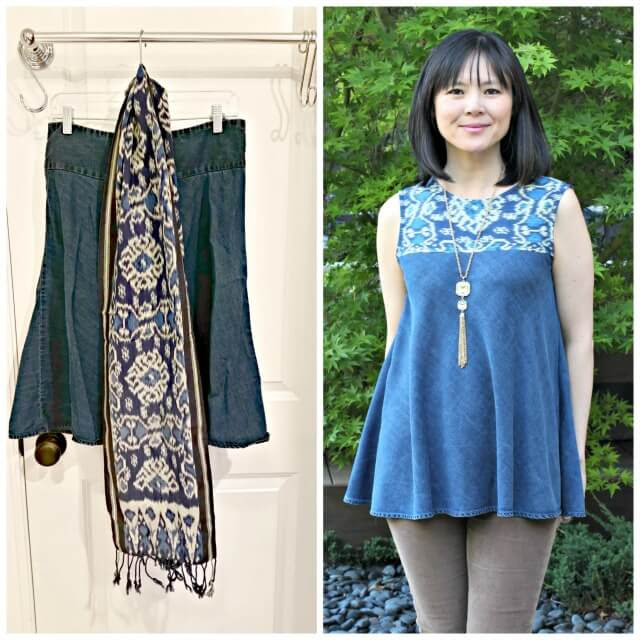 how to make a top from a scarf