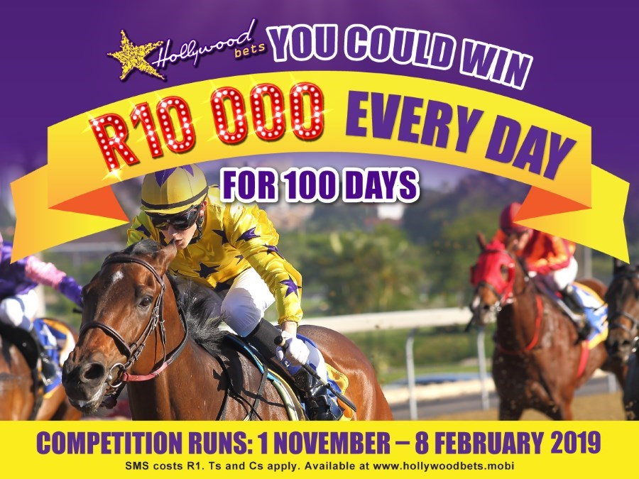 Win R10,000 Every Day with Hollywoodbets and Horse Racing - Competition - Promotion