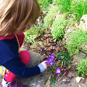 Jane checks the flowers