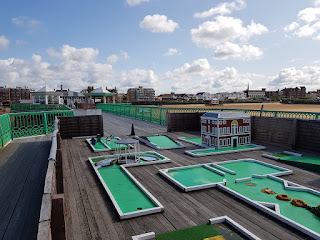 Crazy Golf course on Saint Annes Pier