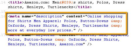 meta description dengan kata kunci sekunder